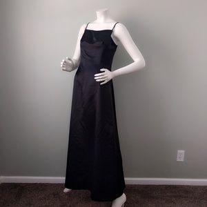 Vintage BCBG Long Goth Minimalist Satin Gown 8